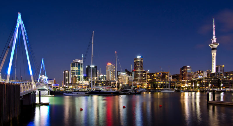 Auckland Harbour at night