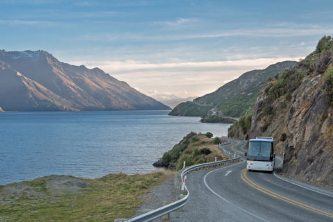 Bus Queenstown to Milford Sound