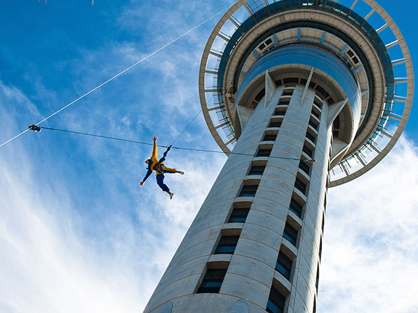 SkyJump at the Sky Tower