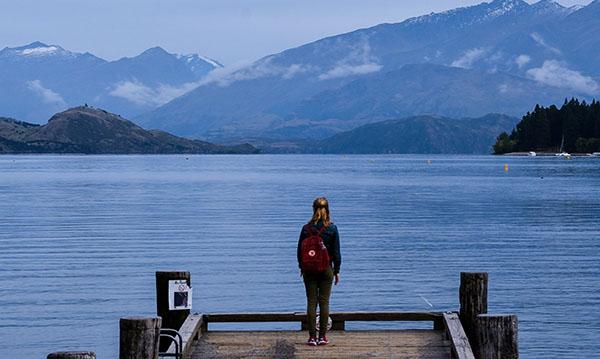 The amazing scenery at Wanaka in New Zealand's South Island.